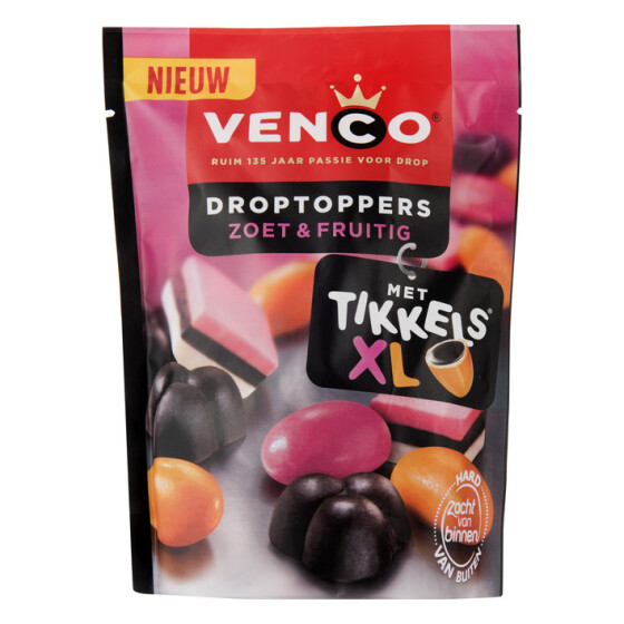 Venco Droptoppers Zoet & Fruitig - 255g