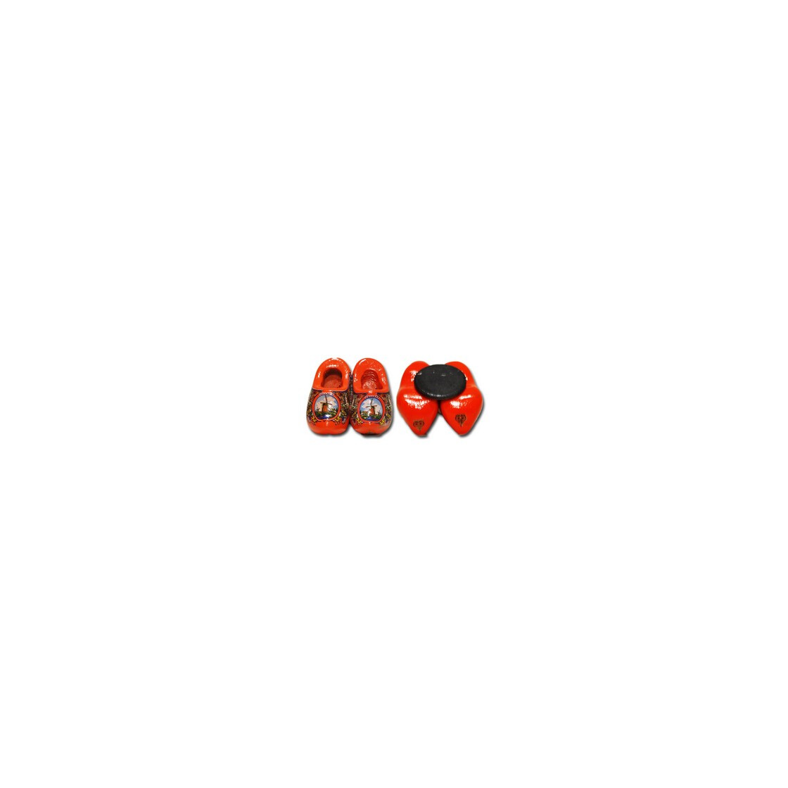klomp magneetje dutch wooden shoe magnet orange. Black Bedroom Furniture Sets. Home Design Ideas